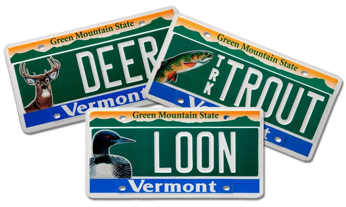 Vermont conservation license plates