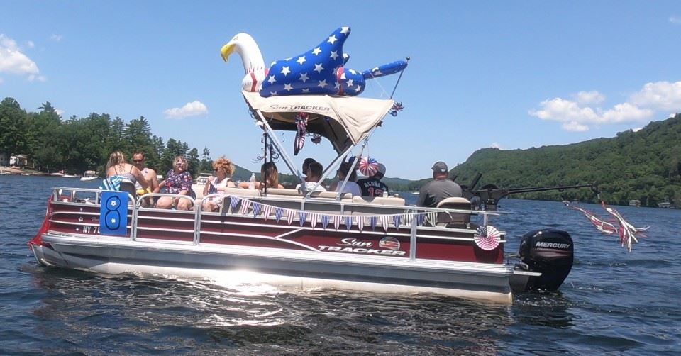 8th Annual Lake St. Catherine Association Boat Parade - Most Patriotic