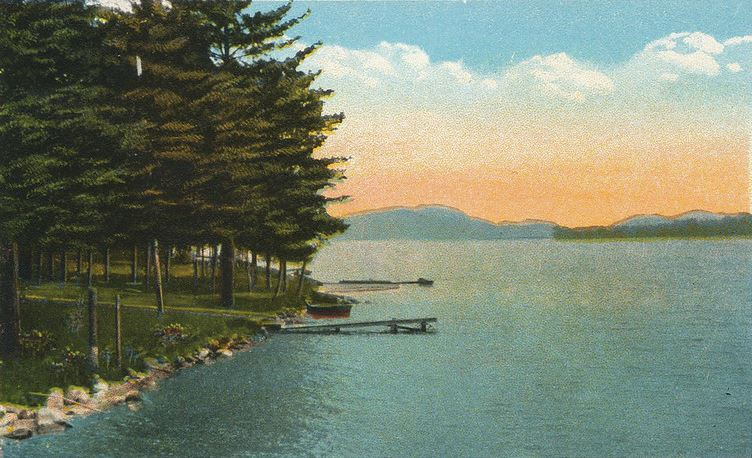 Lake St. Catherine postcard, western shore.